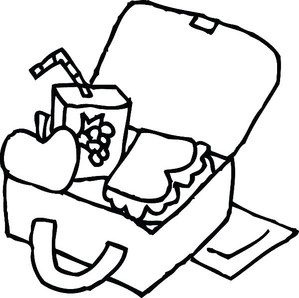 Lunch Box Pattern Coloring Sheet