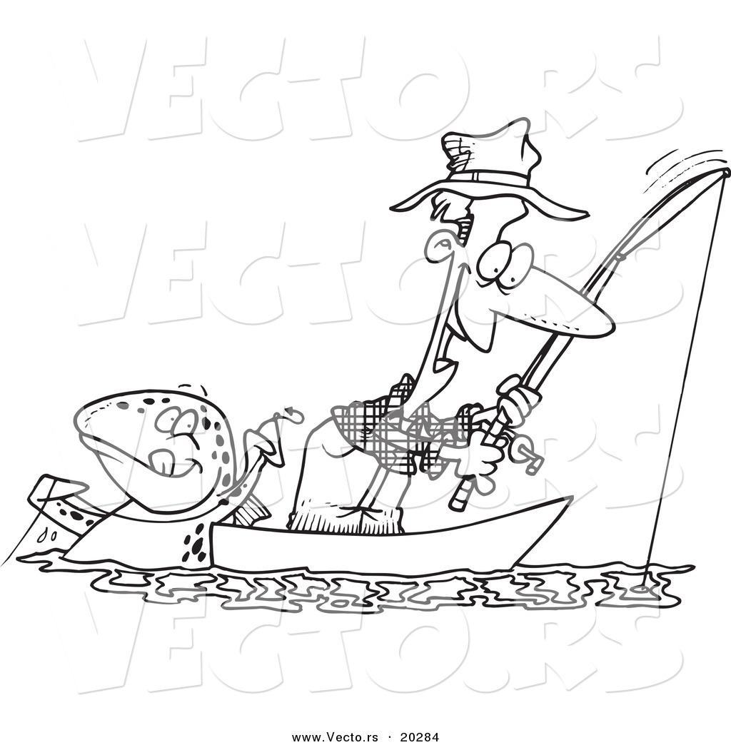 Man Fishing Drawing At Getdrawings