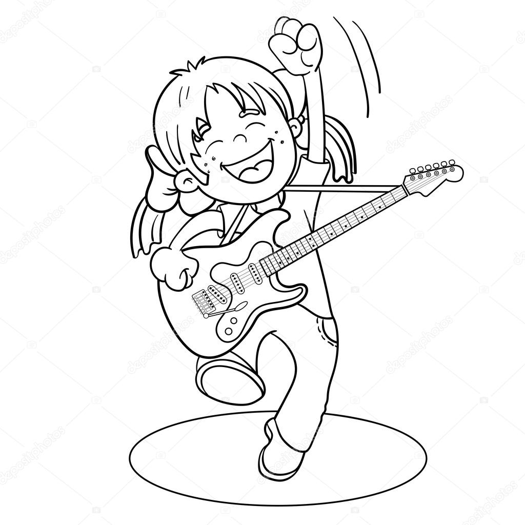 Man Playing Guitar Drawing At Getdrawings