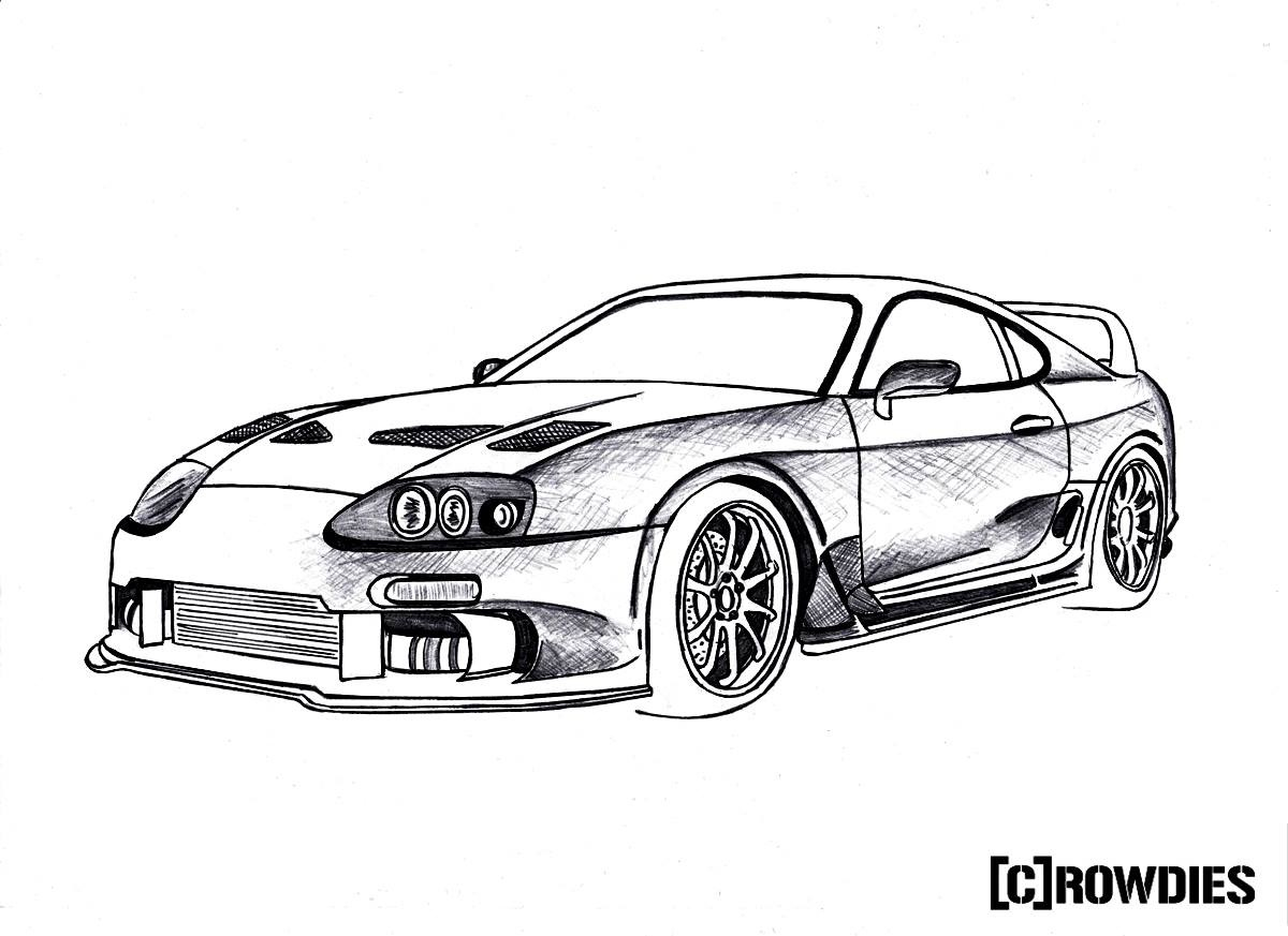 Mazda Rx7 Drawing At Getdrawings