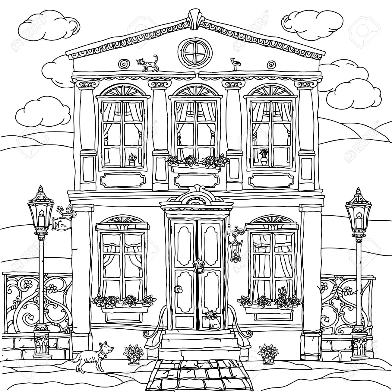 Me Val House Drawing At Getdrawings