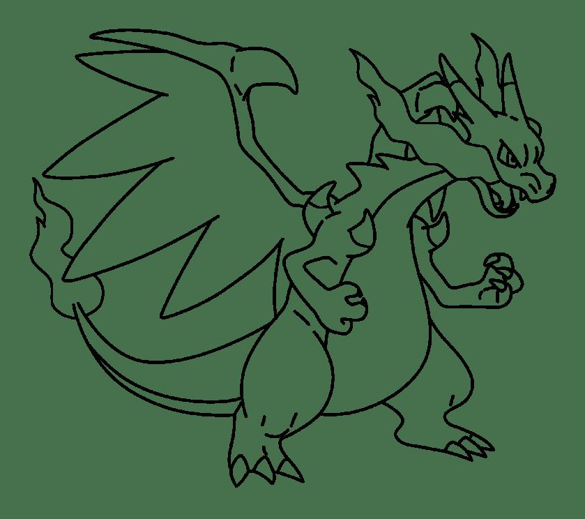 mega charizard drawing at getdrawings  free download
