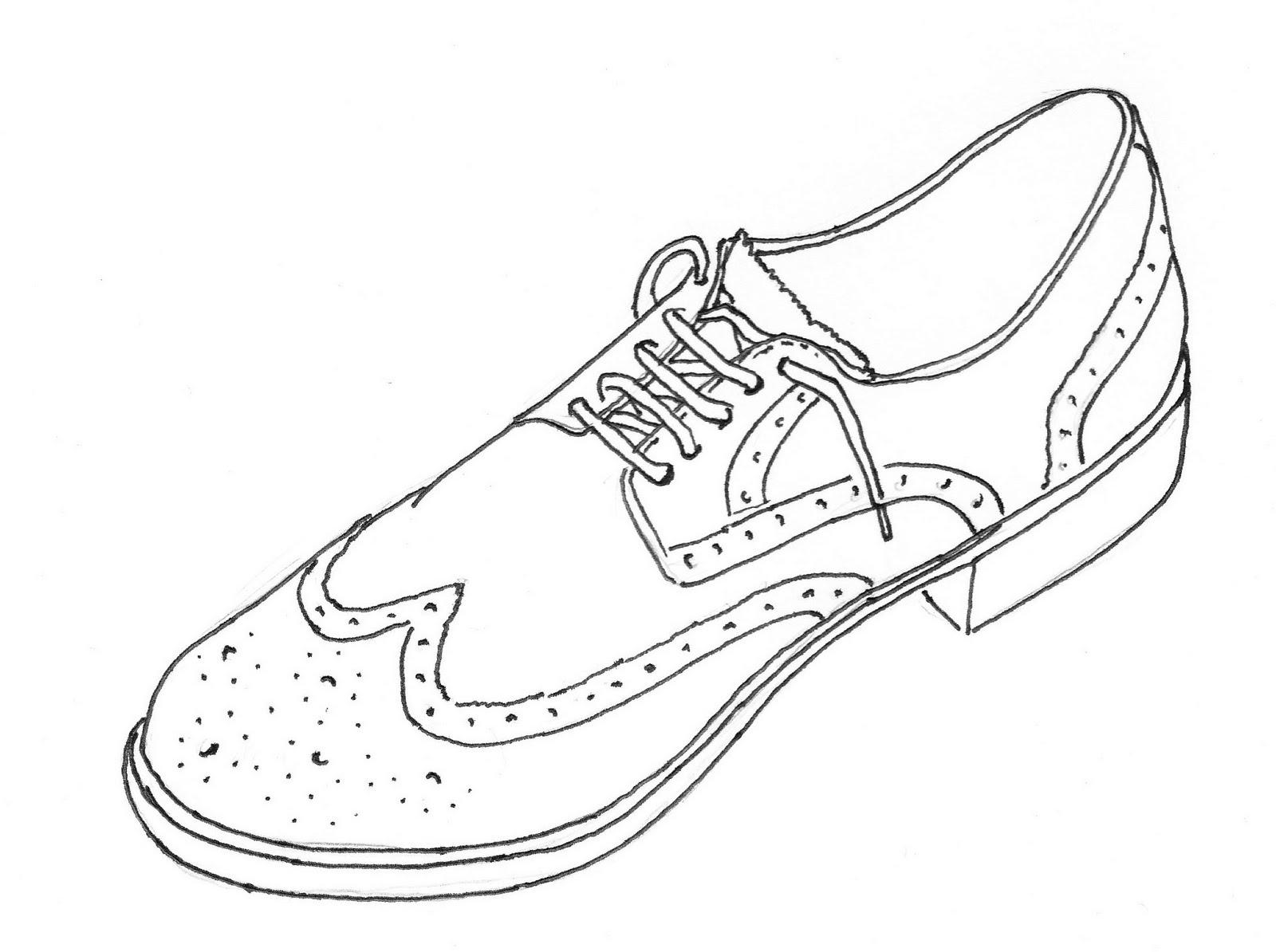 Mens Shoes Drawing At Getdrawings