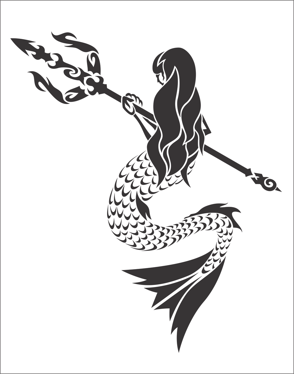 Mermaid Drawing Cliparts At Getdrawings