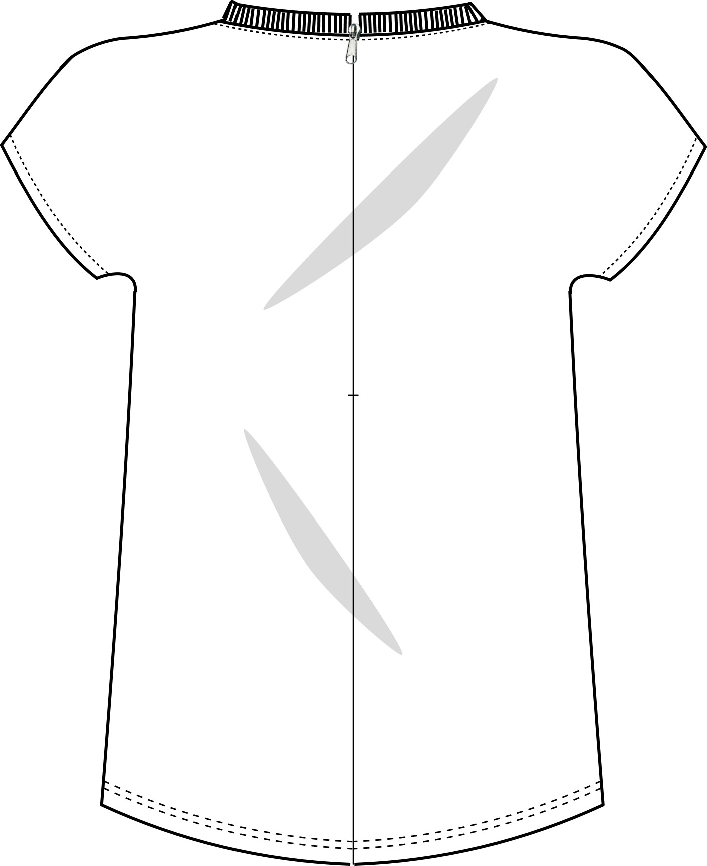 1411x1727 tshirt back view technical drawing outfit metal detector