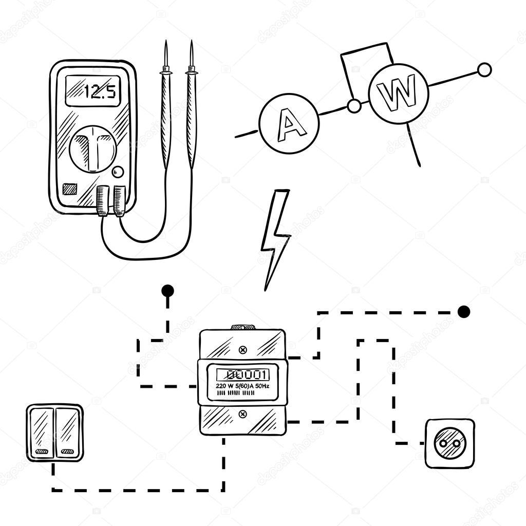 Meter Drawing At Getdrawings