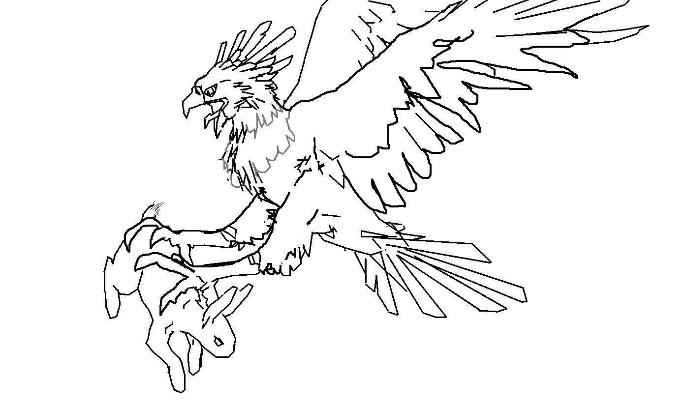 Mexican Flag Eagle Coloring Page Sketch Coloring Page