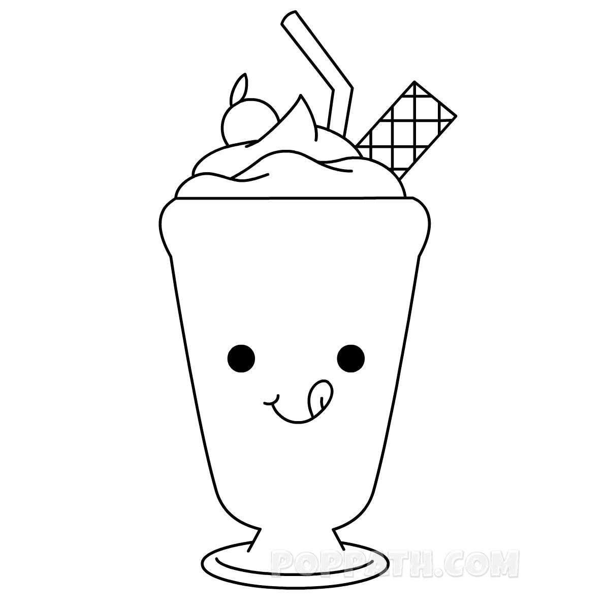 50s Milkshake Coloring Page