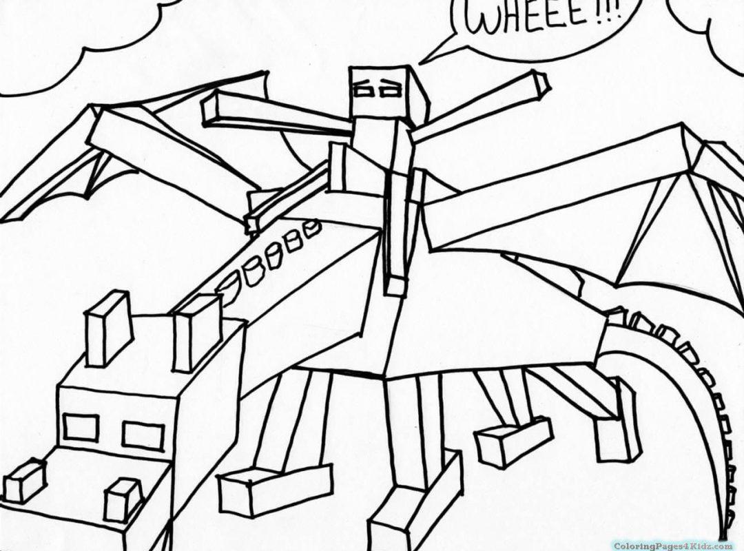 Ender Dragon Printable Minecraft Coloring Pages Novocom Top