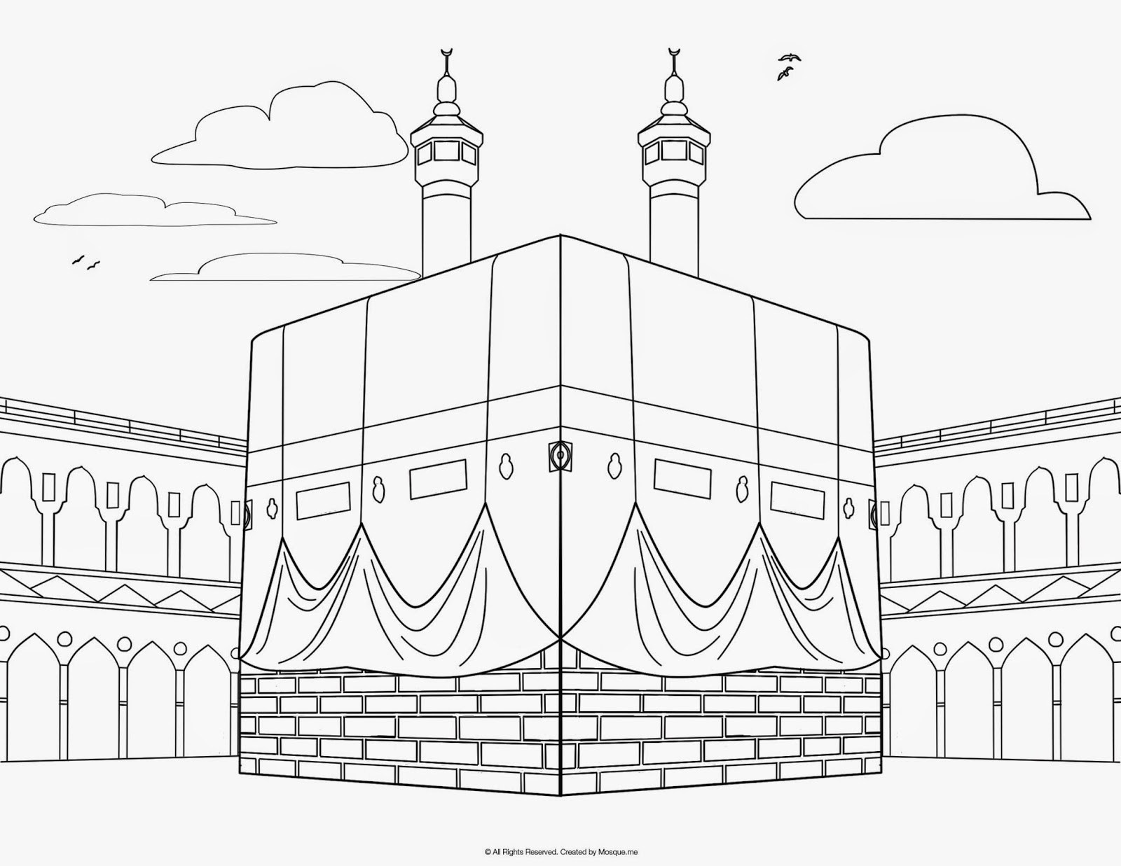 Mosque Drawing For Kids At Getdrawings