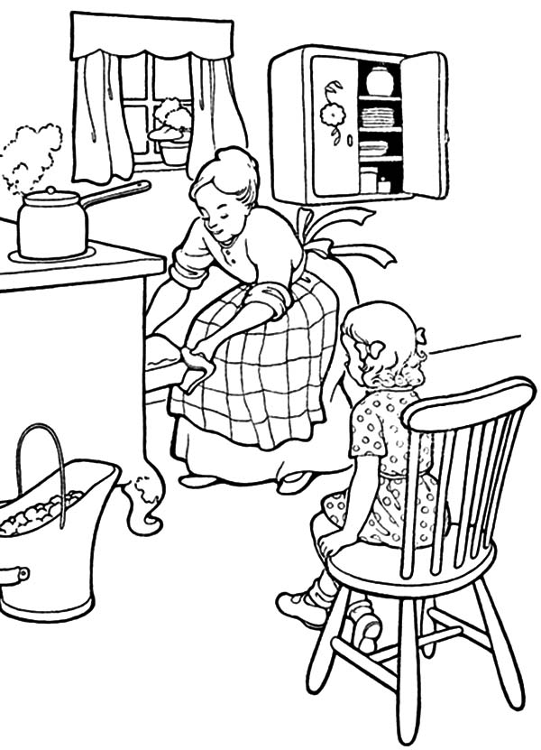 mother daughter drawing at getdrawings  free download