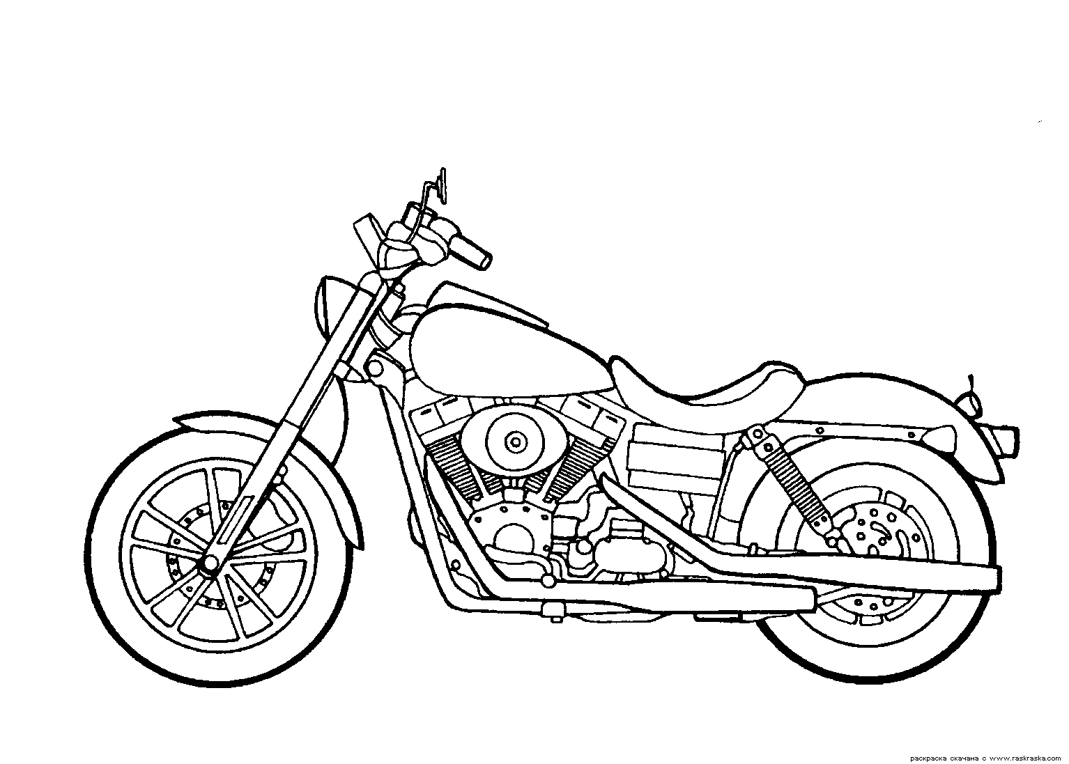 Motorcycle Simple Drawing At Getdrawings