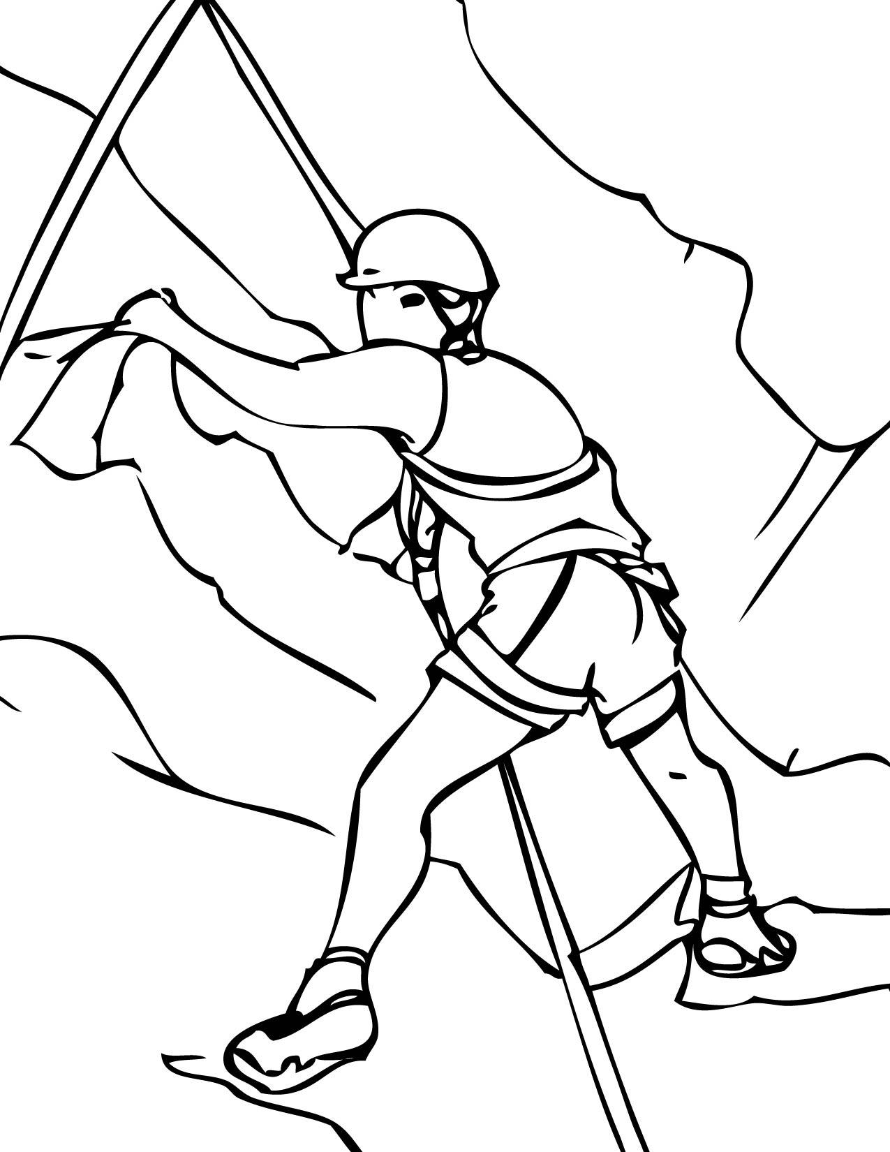 Mountain Climbing Drawing At Getdrawings
