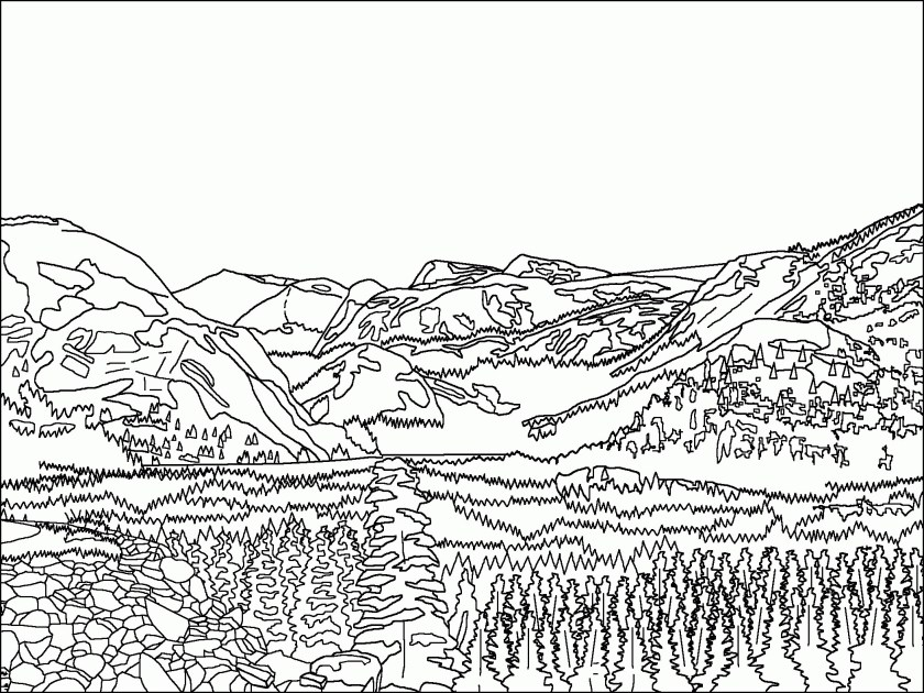 mountain drawing at getdrawings  free download