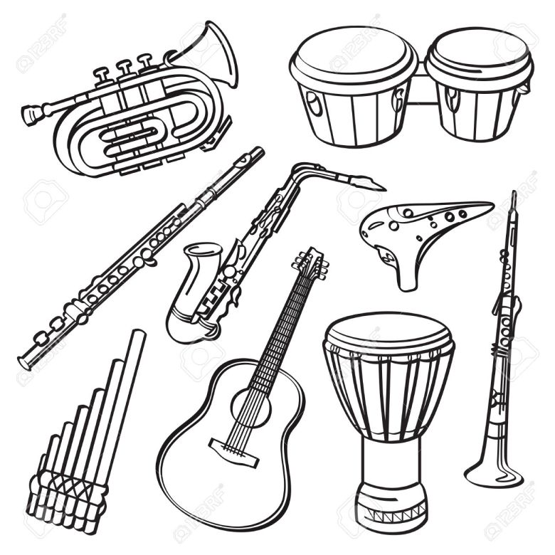 music instrument drawing at getdrawings | free for personal use