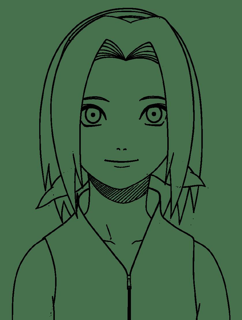 naruto sakura drawing at getdrawings  free download