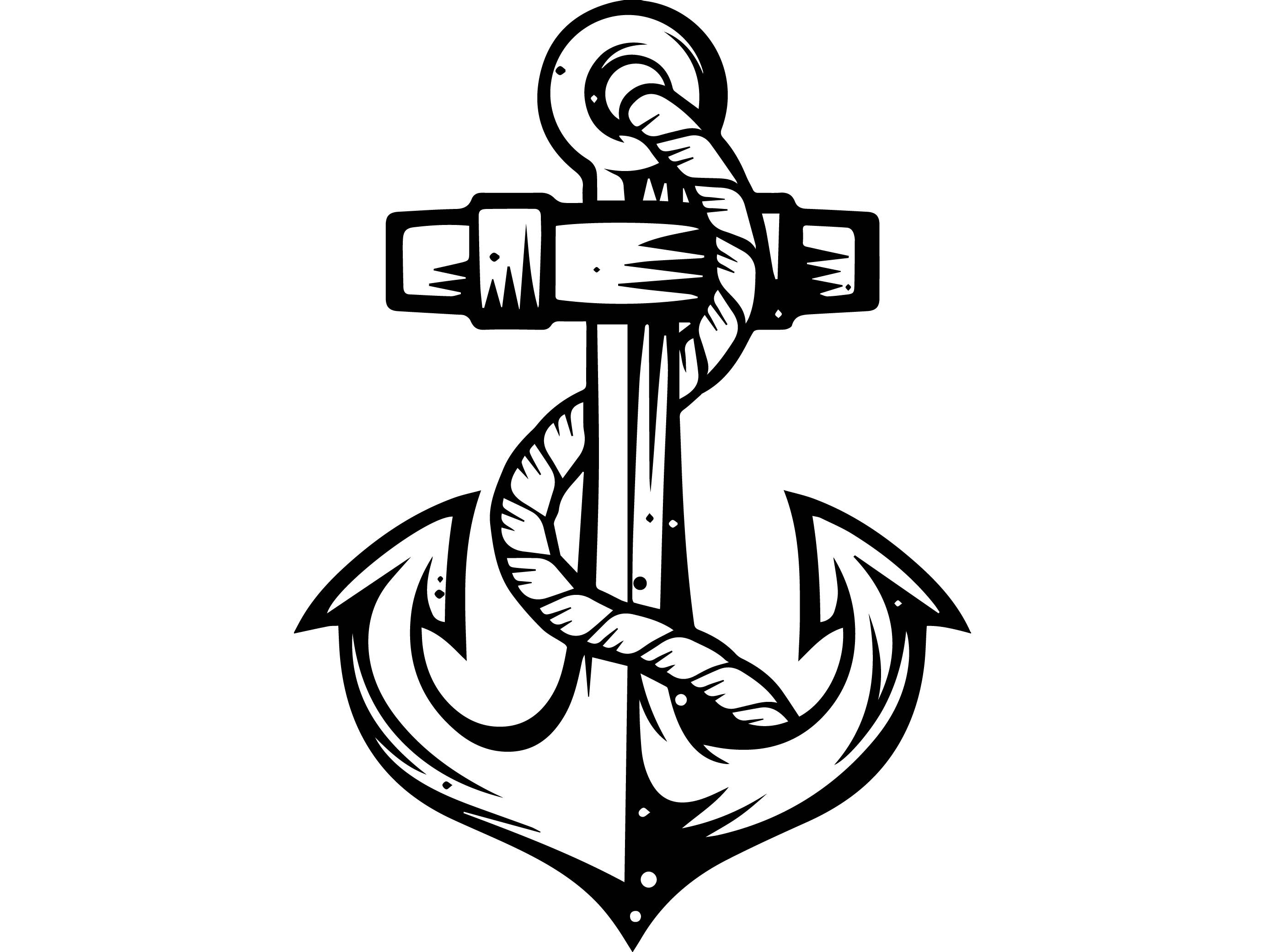 Navy Anchor Drawing At Getdrawings