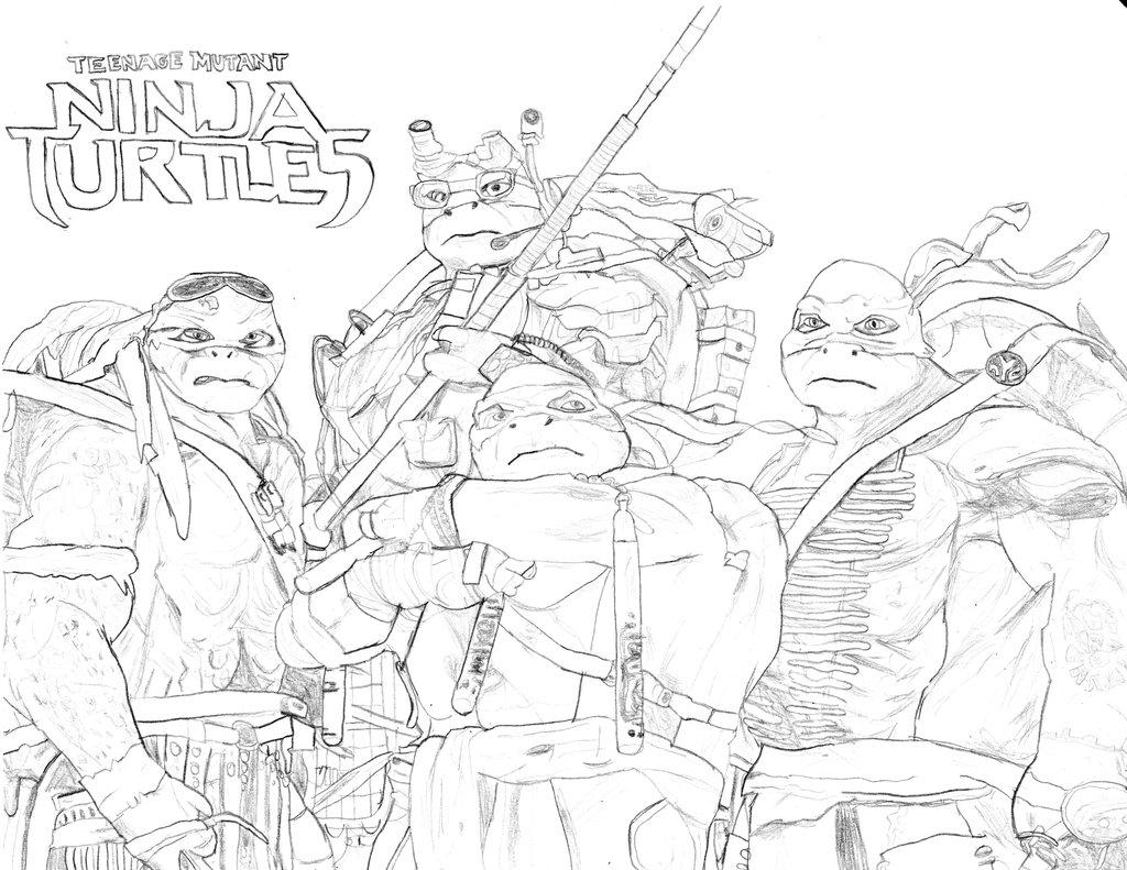 Ninja Turtle Drawing At Getdrawings