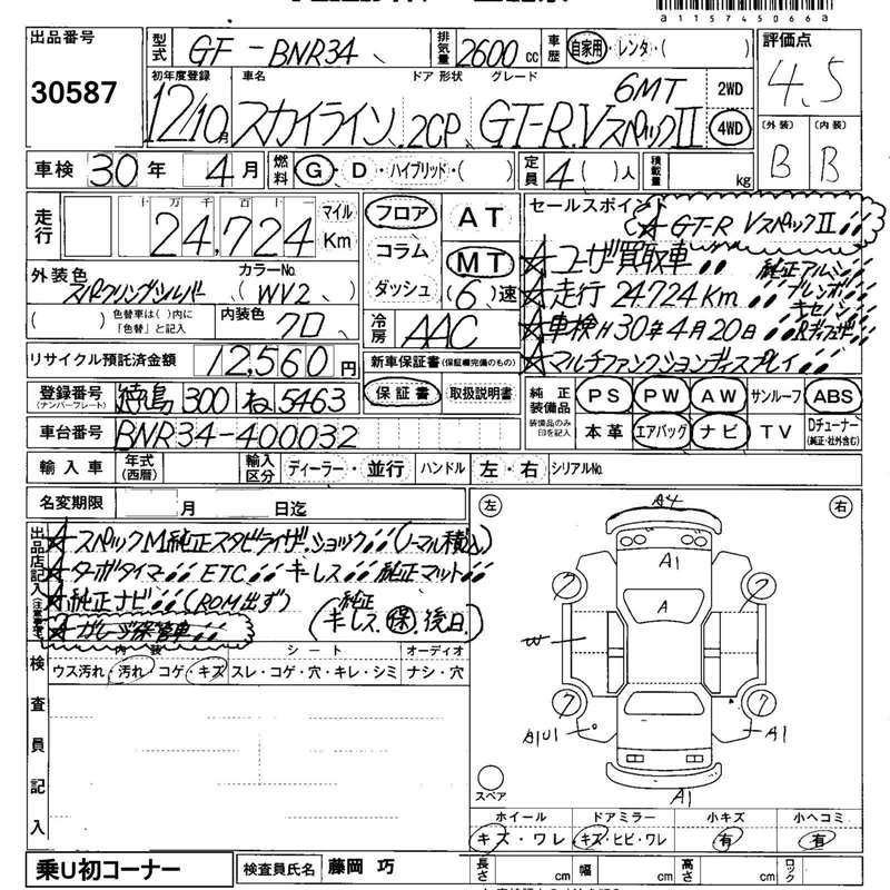 2000 Nissan Skyline Gtr R34 Outline