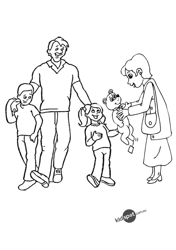 List Of Coloring Pages Nuclear Family Pict