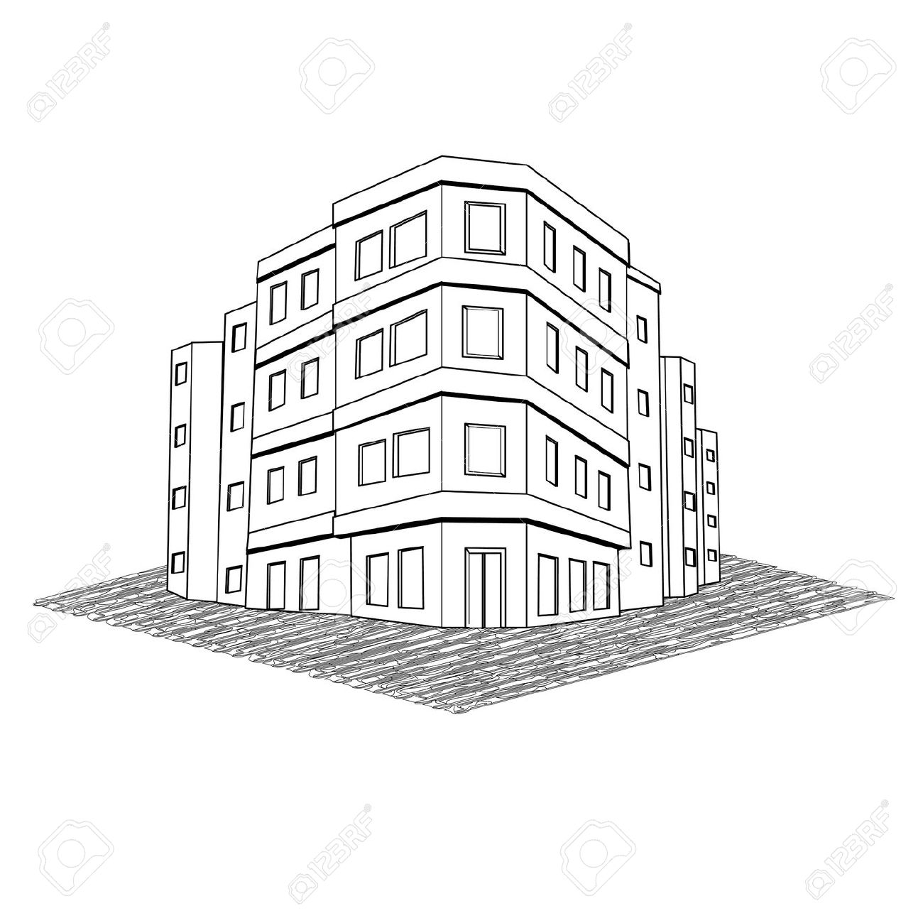 Office Building Drawing At Getdrawings