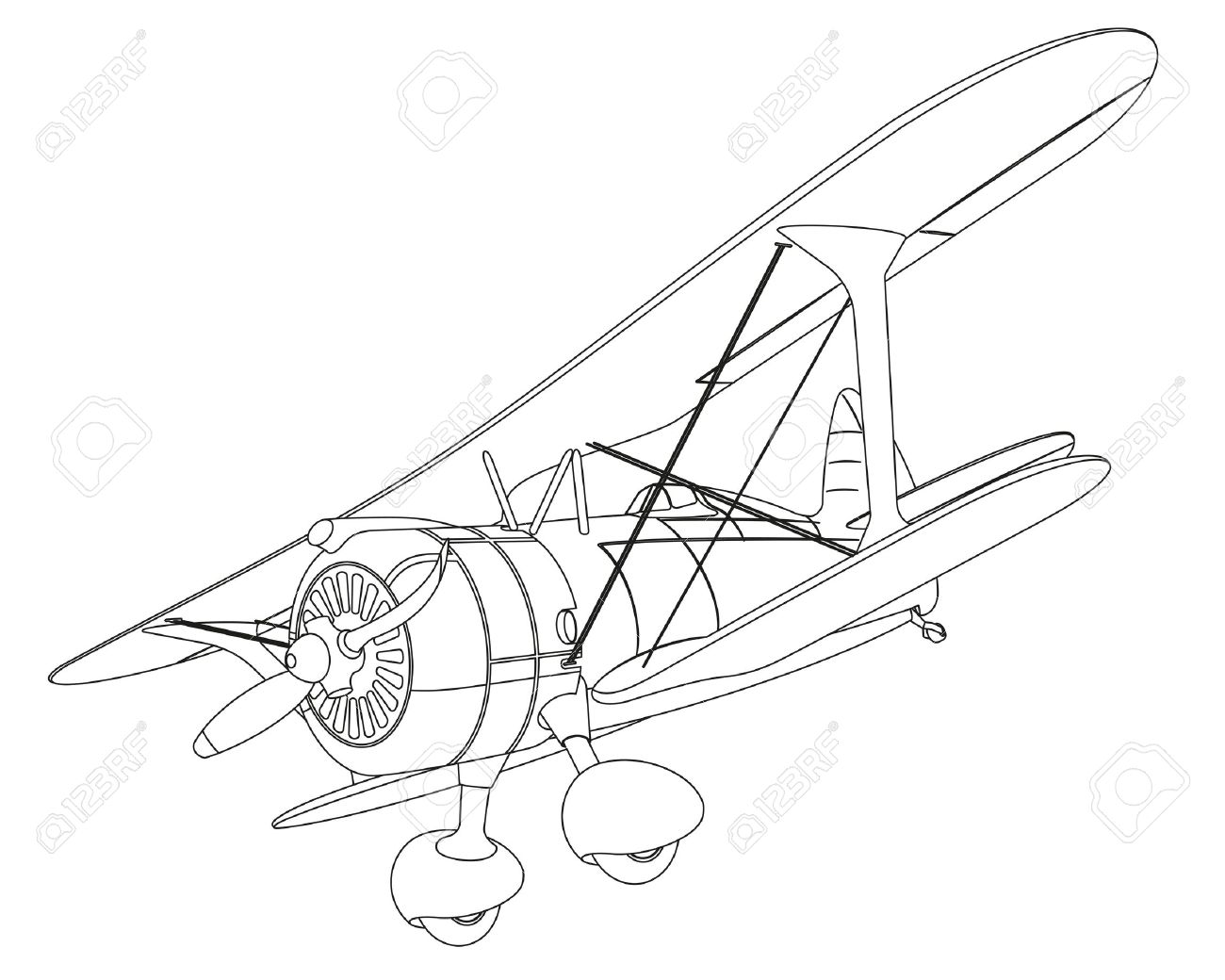 Old Airplane Drawing At Getdrawings