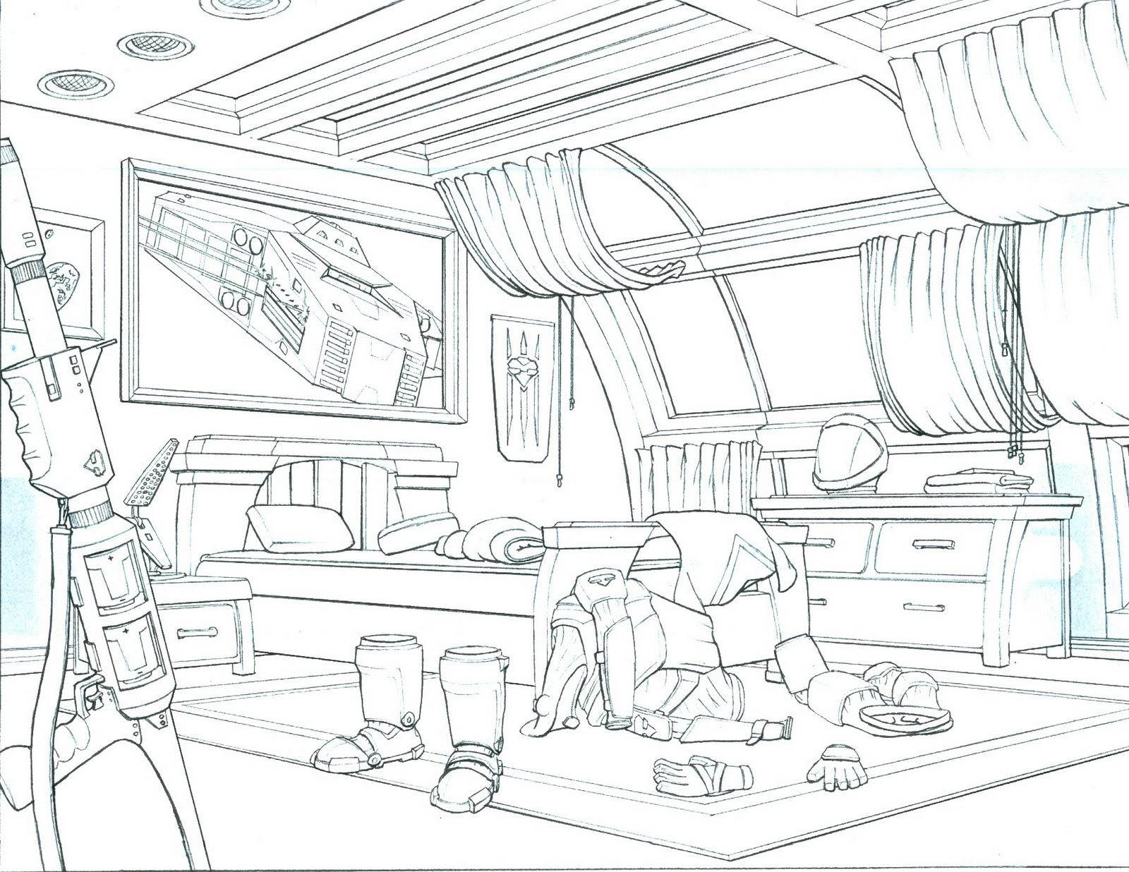 One Point Perspective Room Drawing At Getdrawings