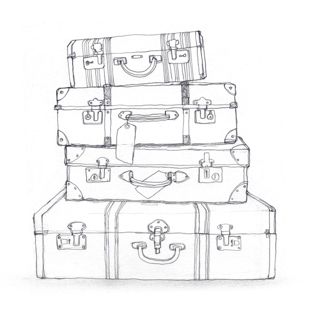 Open Suitcase Drawing At Getdrawings