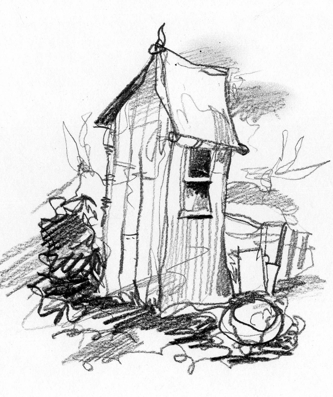 Outhouse Drawing At Getdrawings