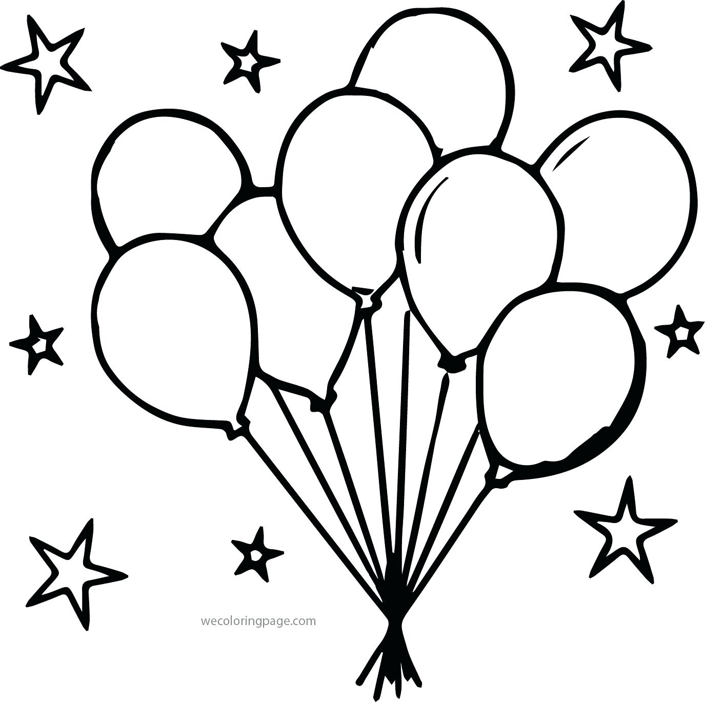 Party Balloons Drawing At Getdrawings