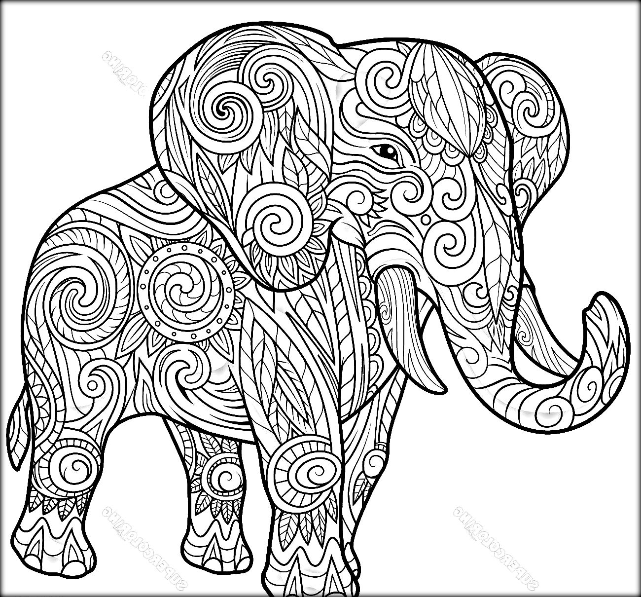Pattern Elephant Drawing At Getdrawings