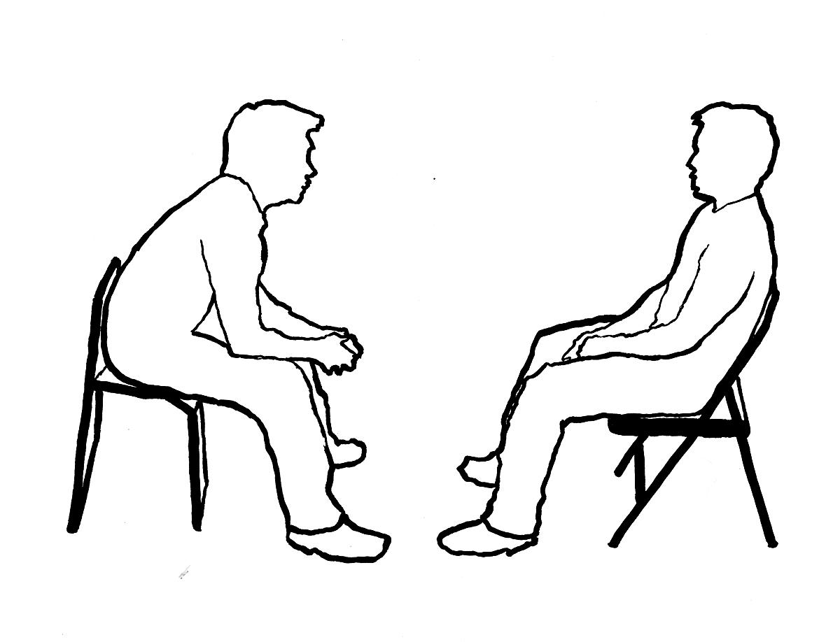 People Talking Drawing At Getdrawings