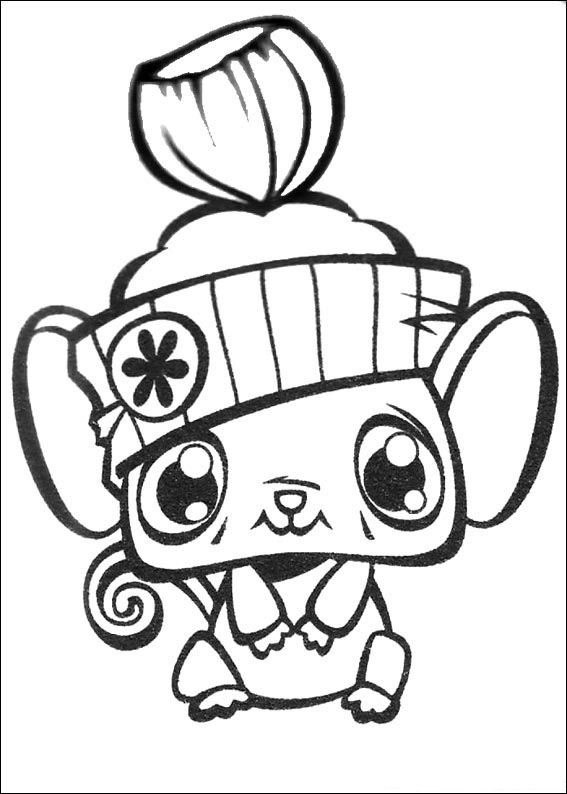 little pet shop coloring pages # 67