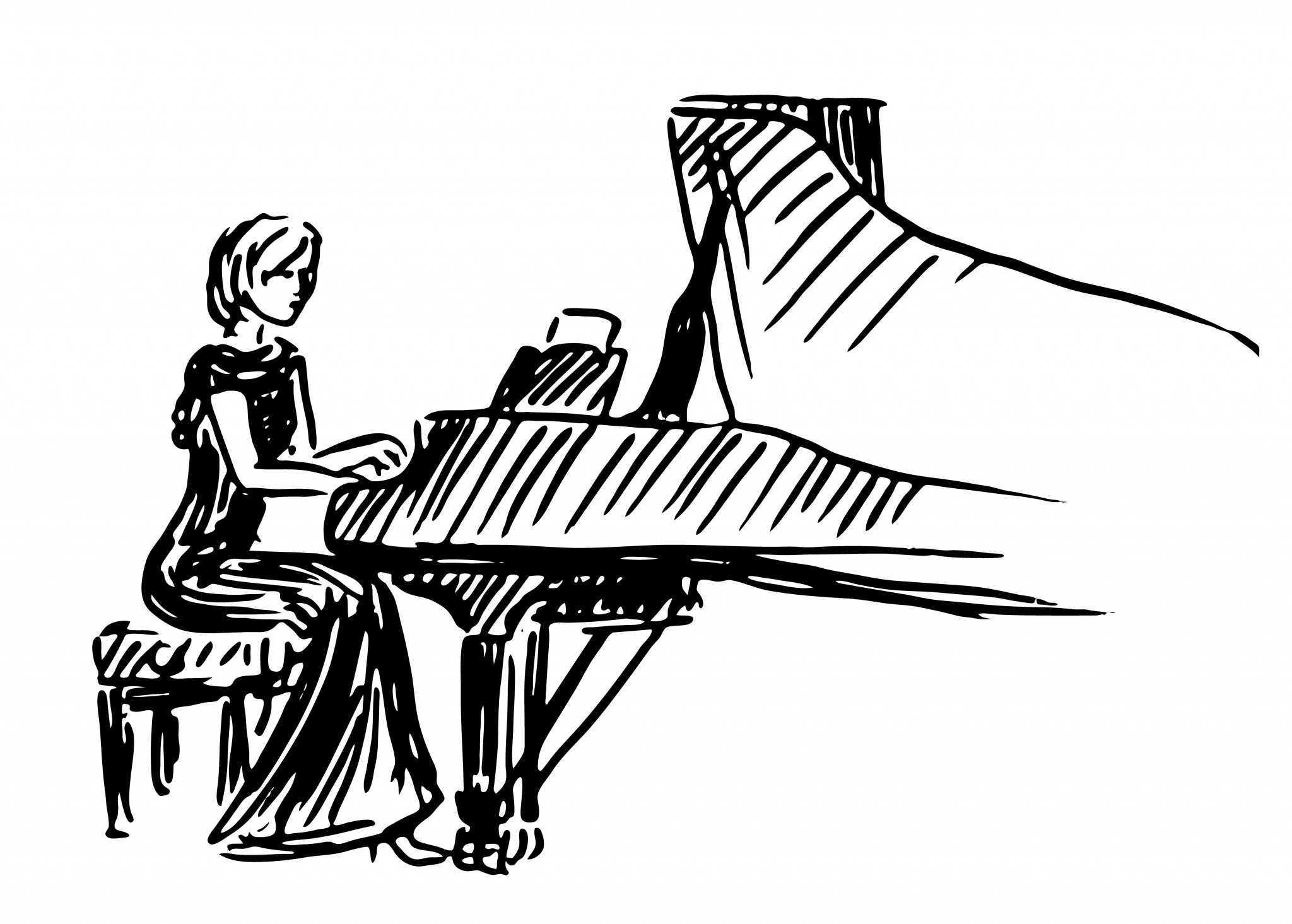 Pianist Drawing At Getdrawings