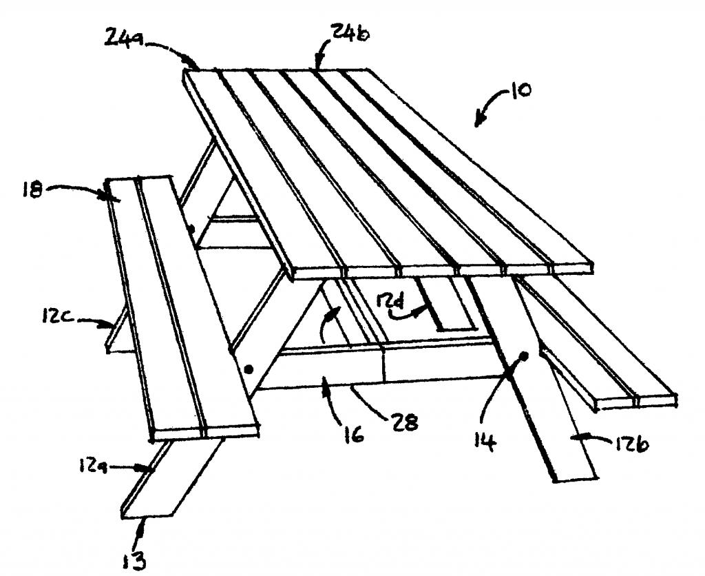Picnic Table Drawing At Getdrawings