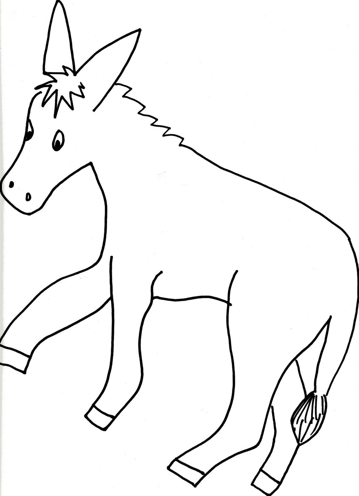 Pin The Tail On The Donkey Drawing At Getdrawings