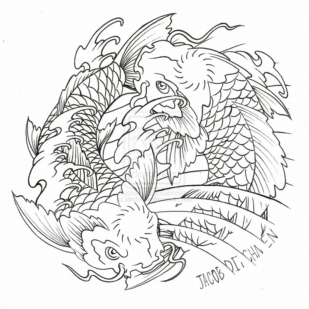 Pisces Fish Drawing At Getdrawings