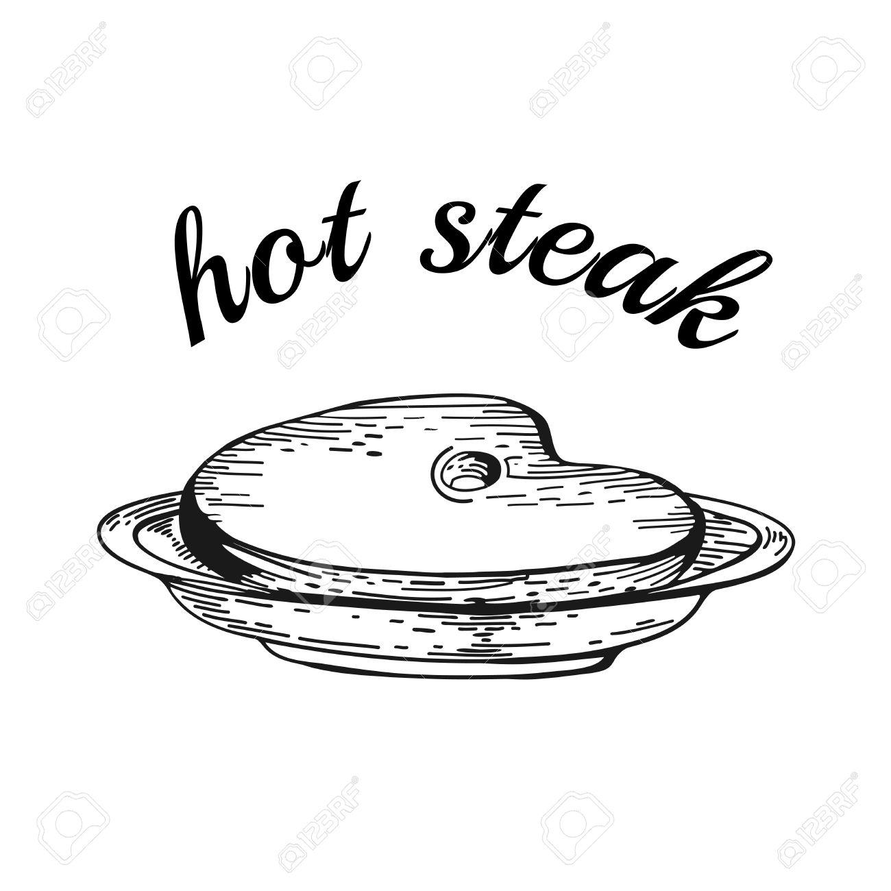 Plate Of Food Drawing At Getdrawings