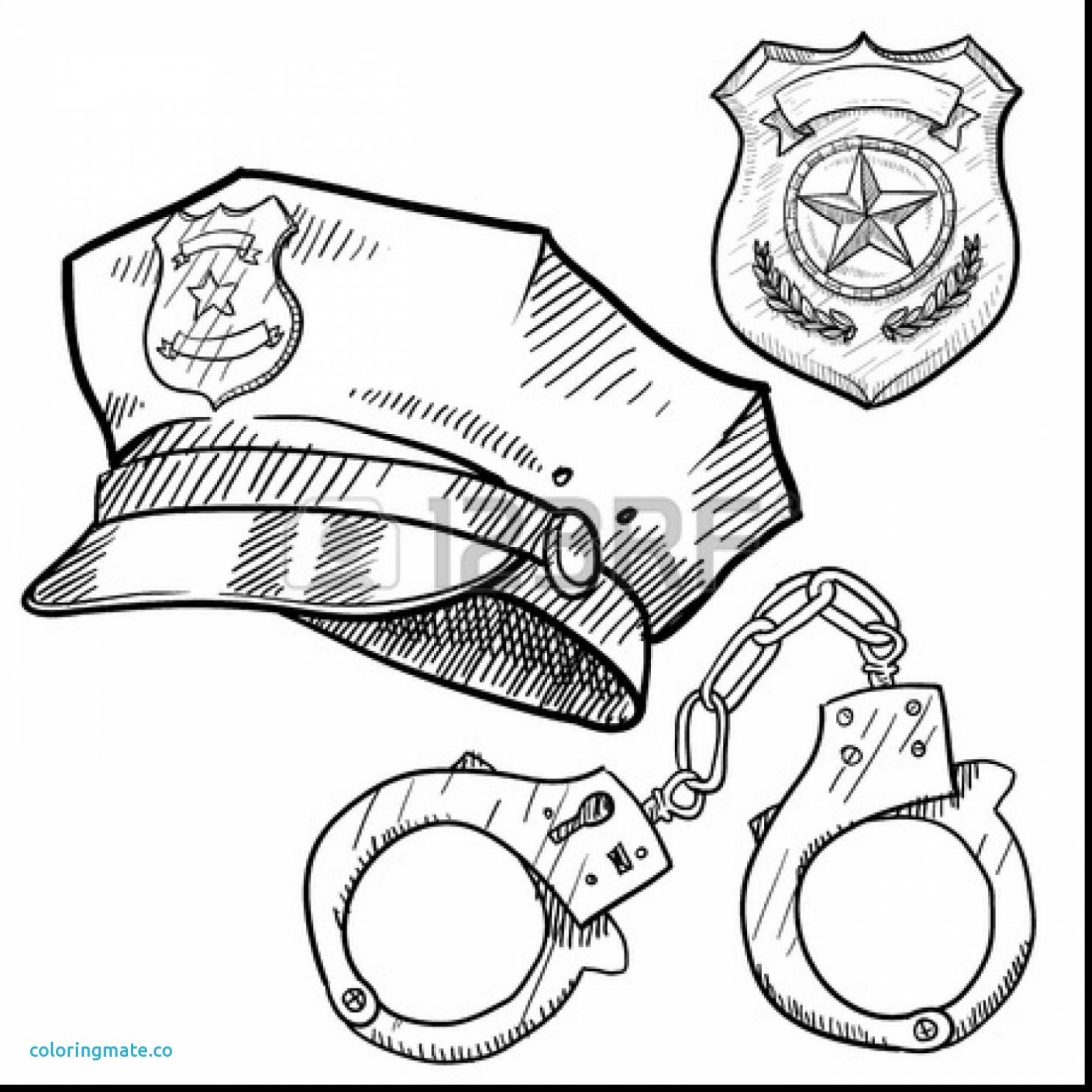 Police Badge Drawing At Getdrawings