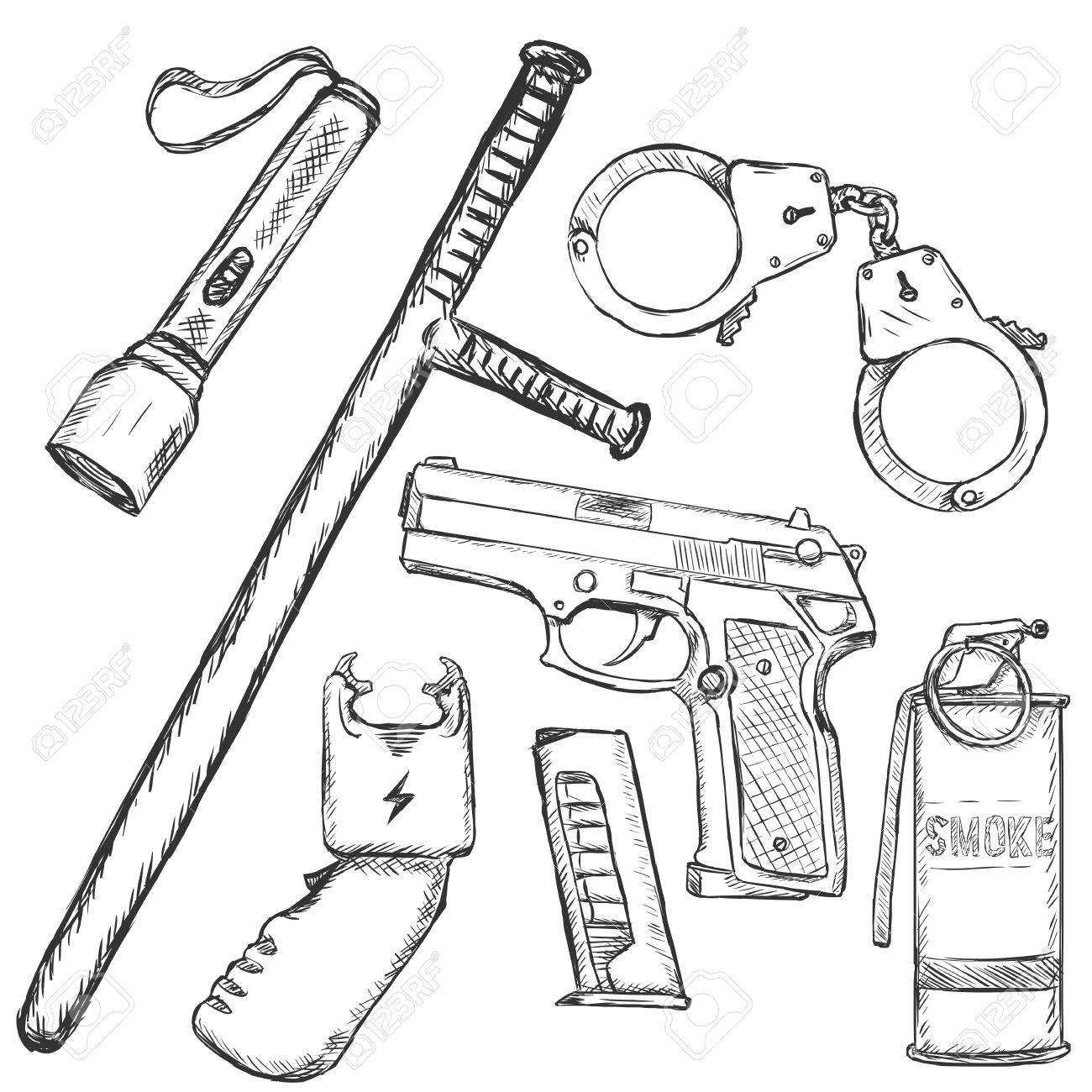 Police Drawing At Getdrawings