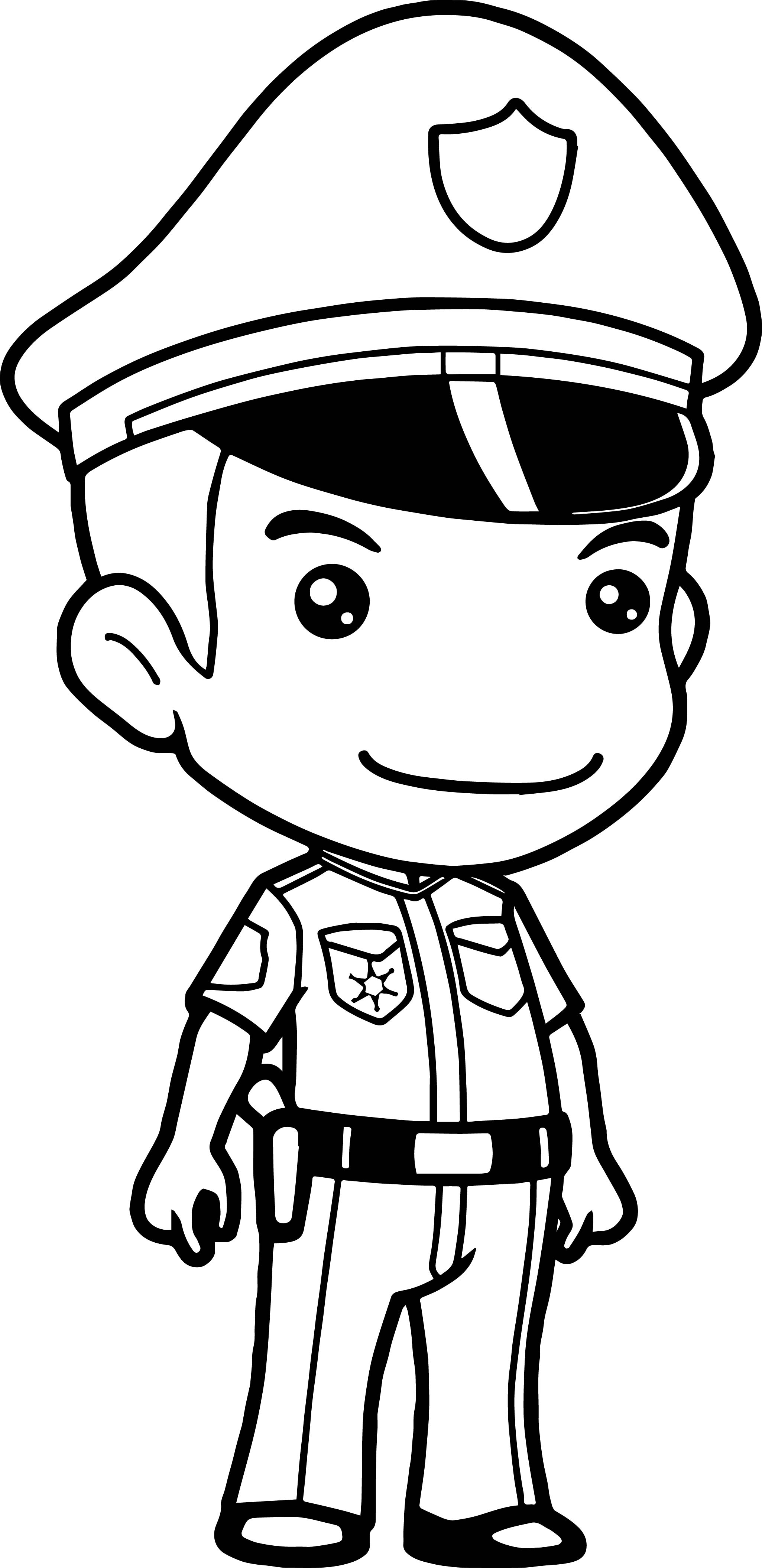 Police Officers Drawing At Getdrawings
