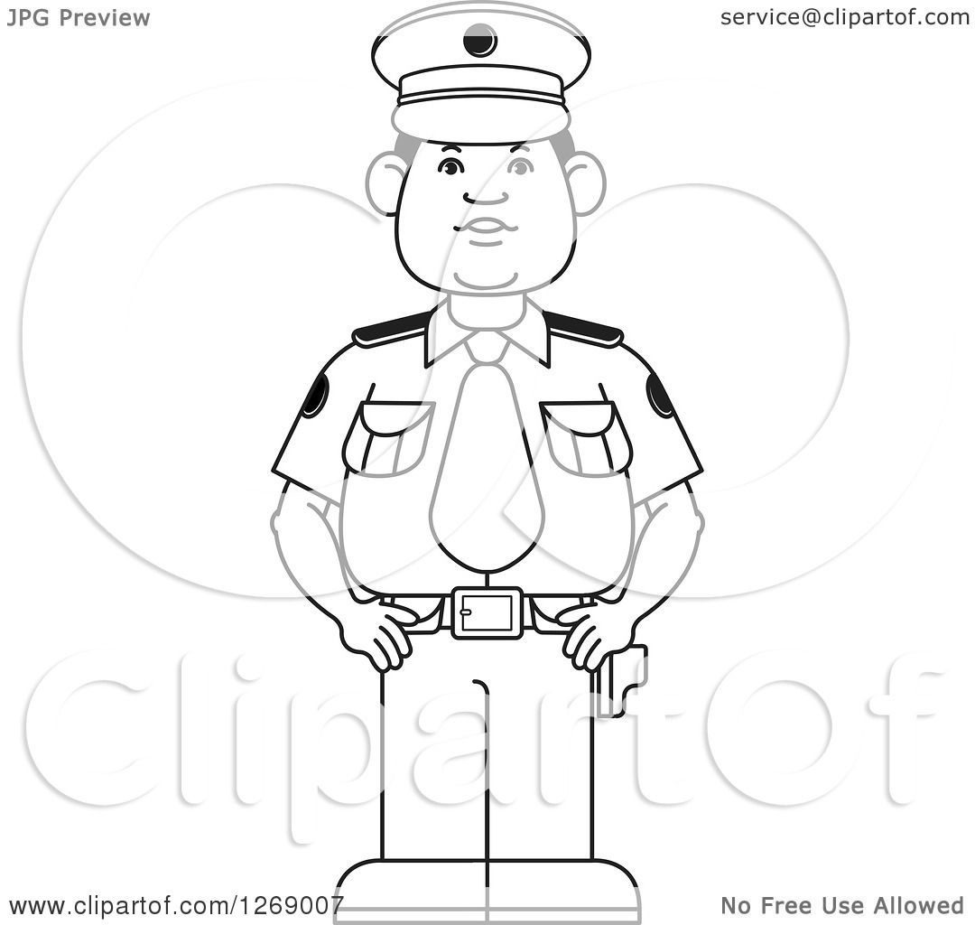 Police Uniform Drawing At Getdrawings