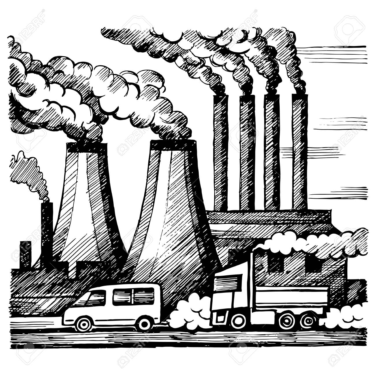 Pollution Drawing At Getdrawings