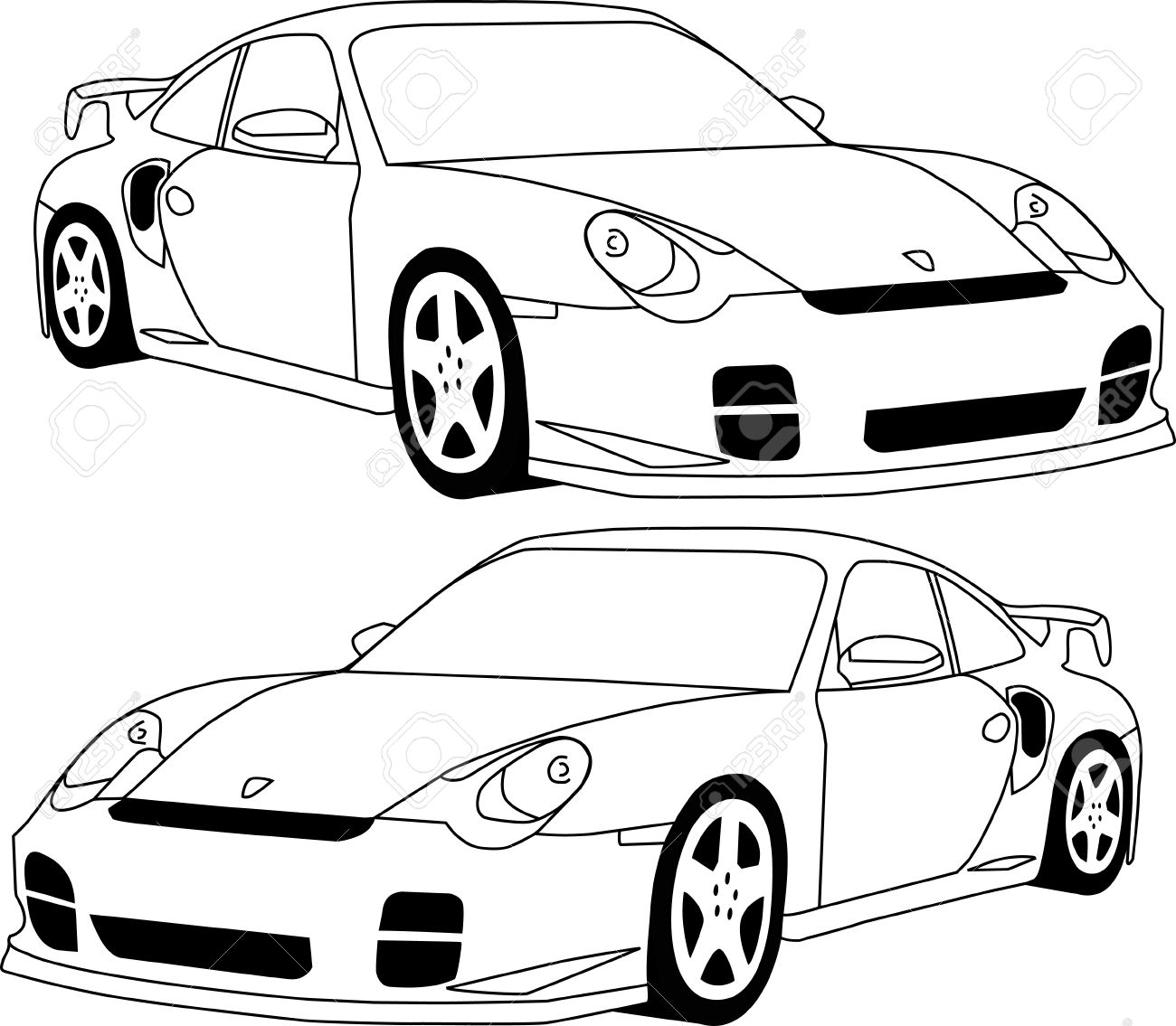 Porsche Line Drawing At Getdrawings