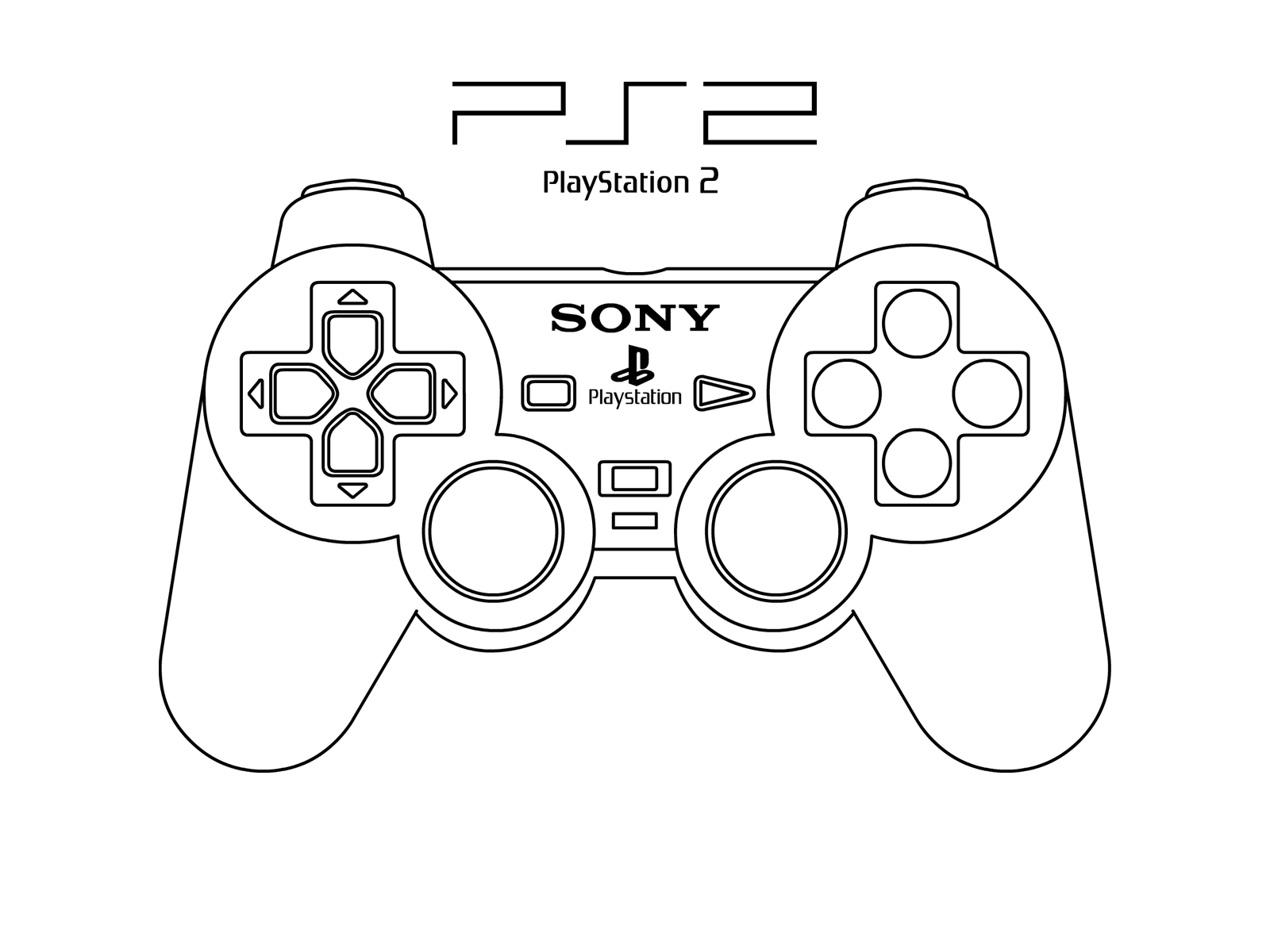Ps4 Controller Drawing At Getdrawings