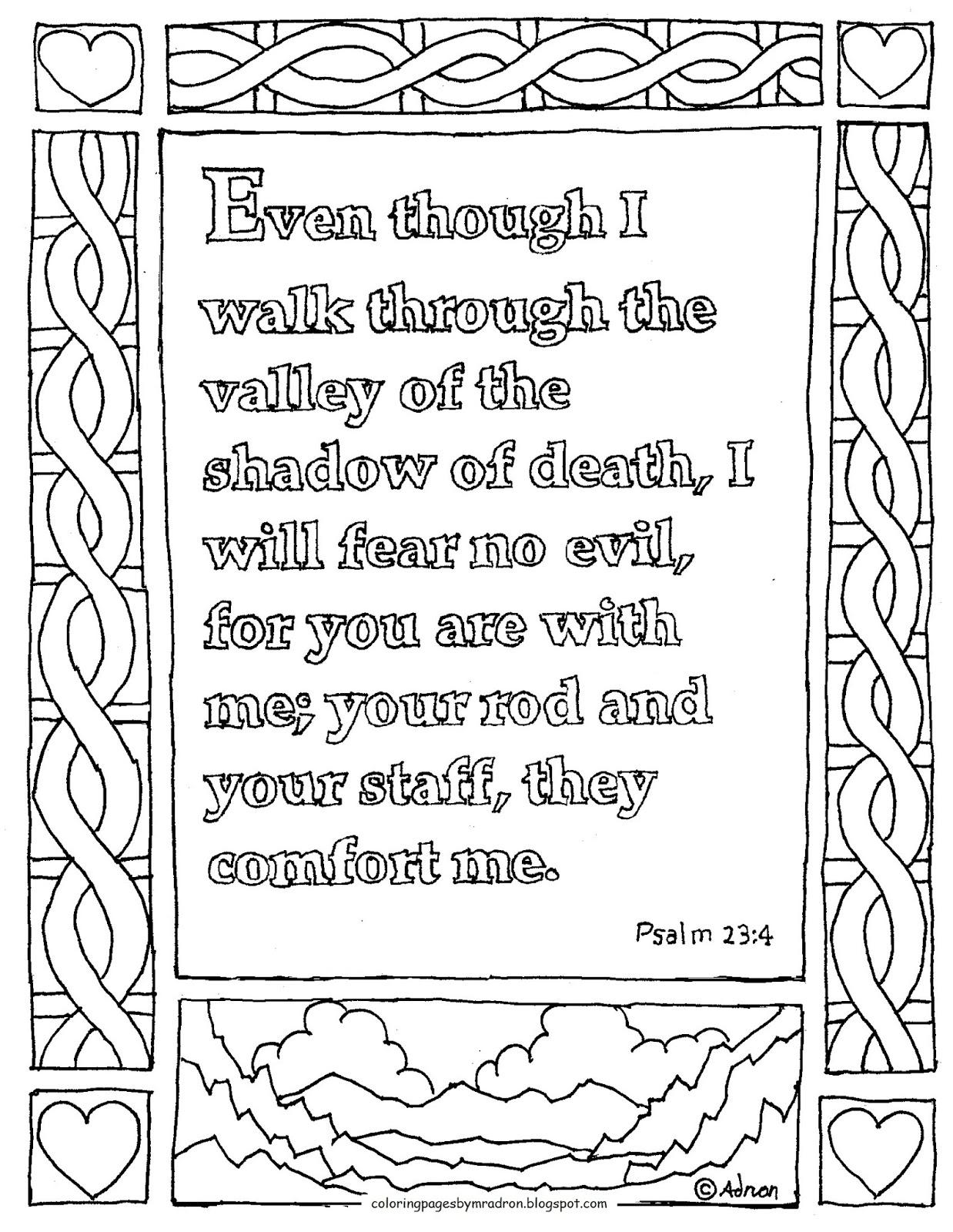 Psalm 23 Drawing At Getdrawings