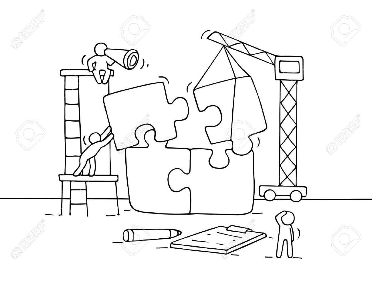 Puzzle Pieces Drawing At Getdrawings