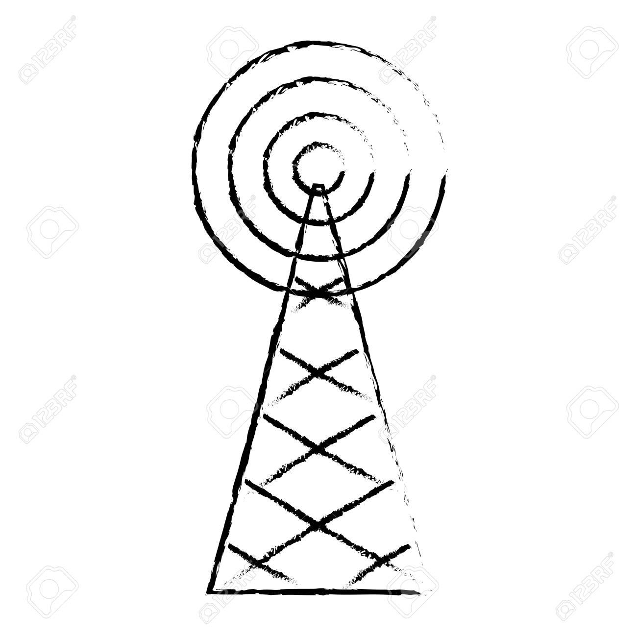 Radio Tower Drawing At Getdrawings