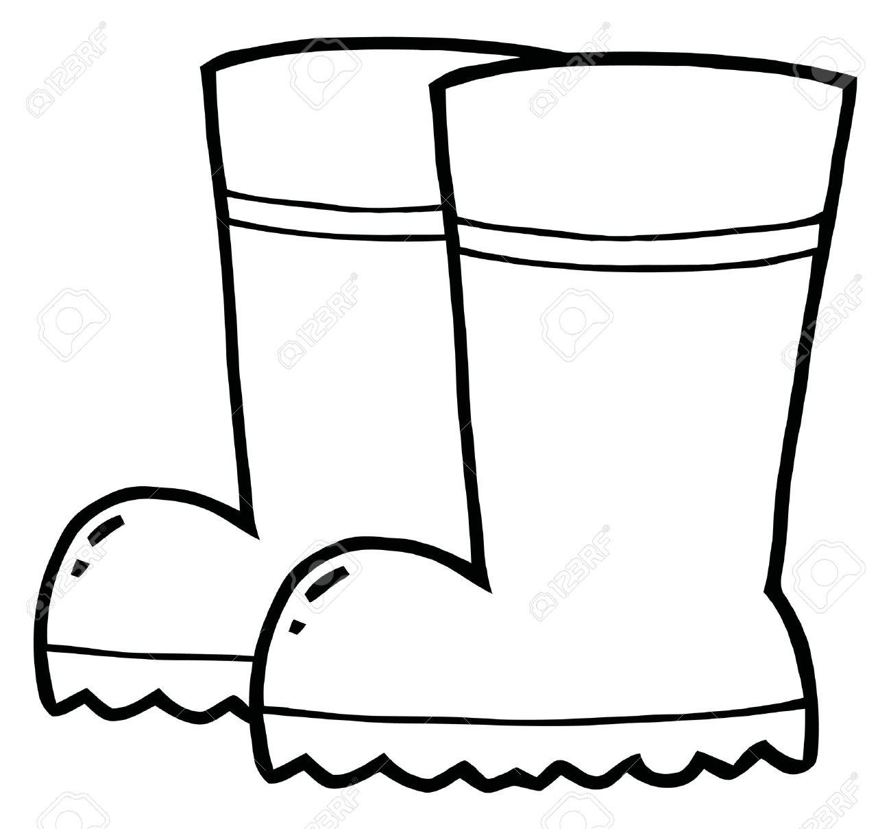 Rain Boots Drawing At Getdrawings