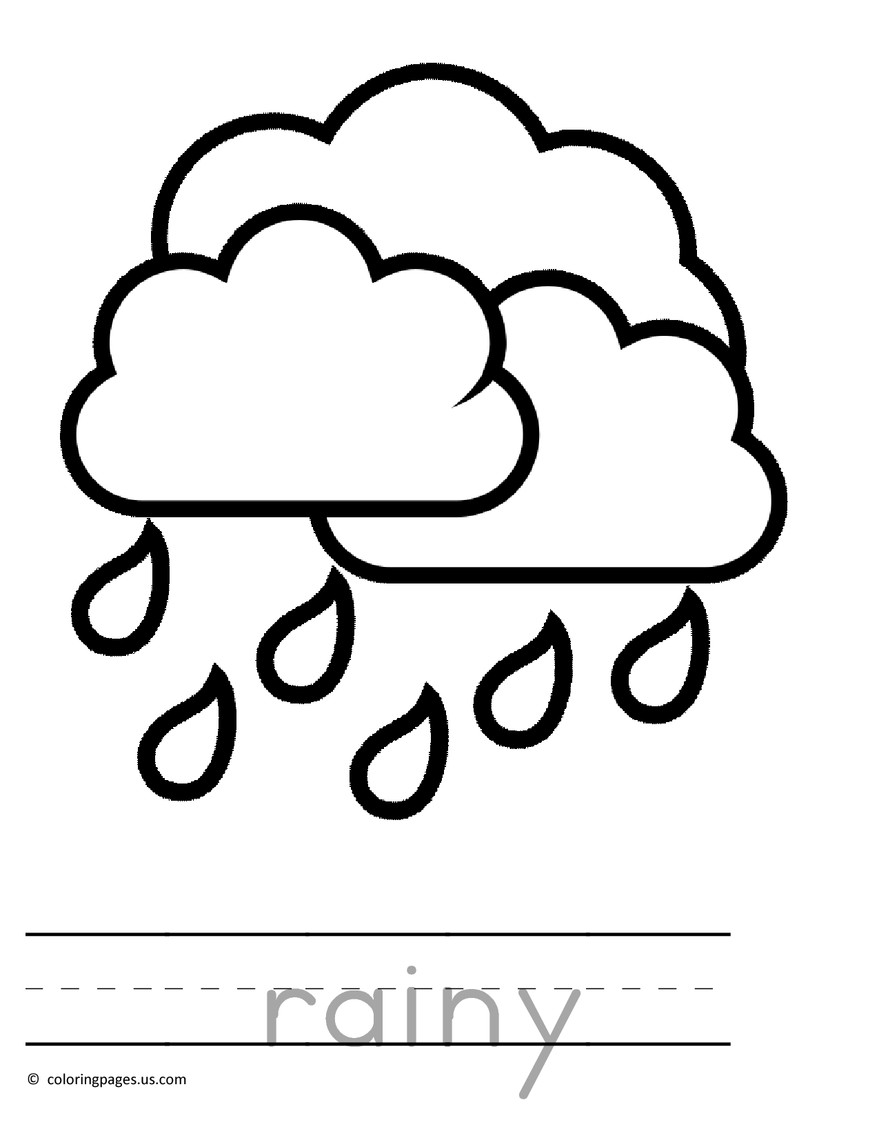 Rain Drawing For Kids At Getdrawings